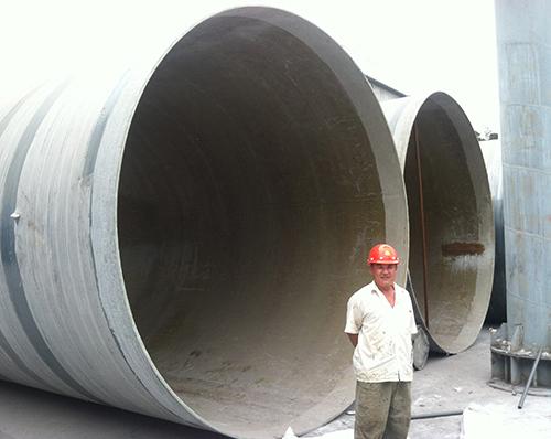 华新水泥(涪陵)有限公司玻璃钢烟囱