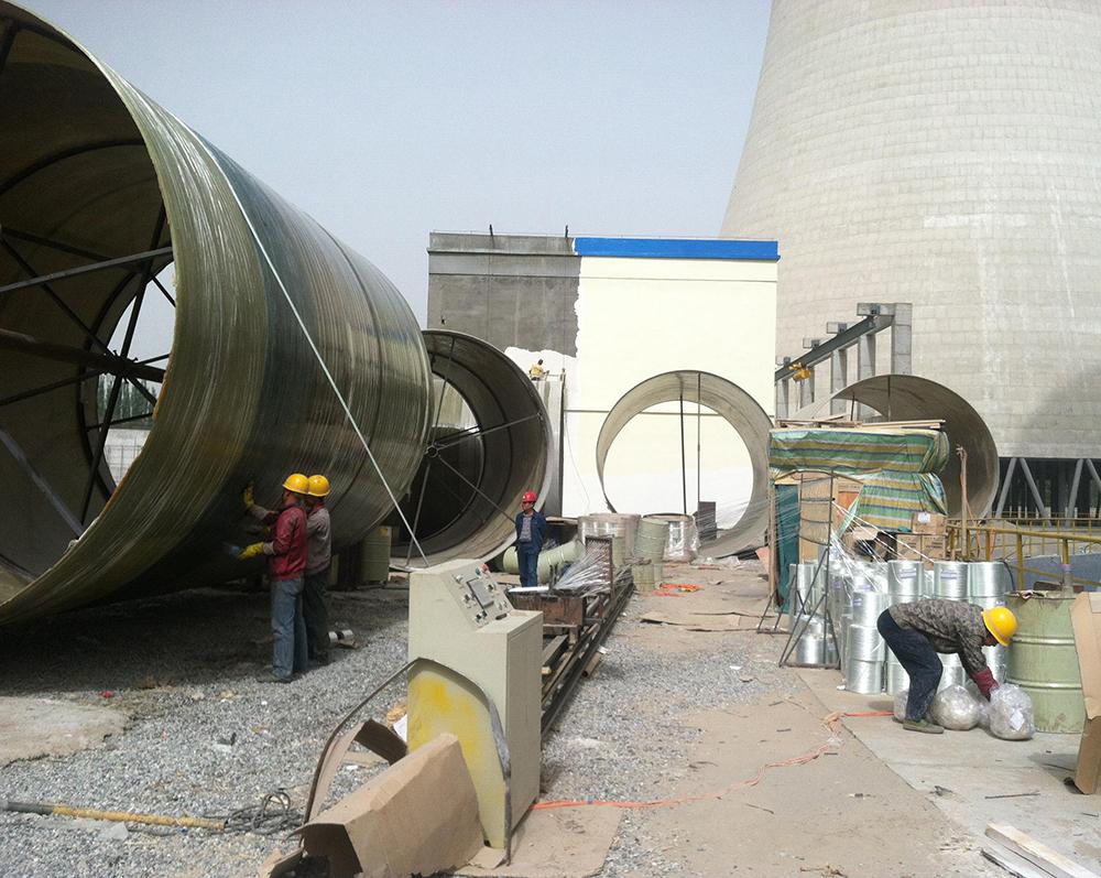 华威金鑫实业玻璃钢烟囱