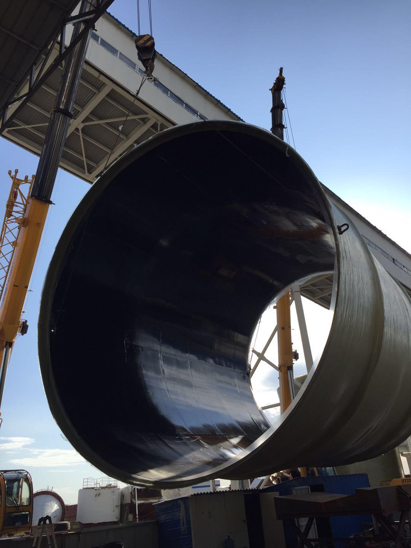 内蒙古锦联铝业直径6.5米,高度180米玻璃钢烟囱