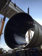 常熟内蒙古锦联铝业直径6.5米,高度180米玻璃钢烟囱